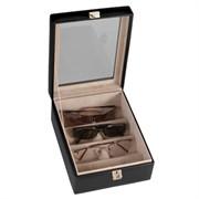 Leather 4 Slot Eyeglass Box / Valet