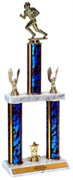Quick-Ship Two-Tier Column Trophies -  Football